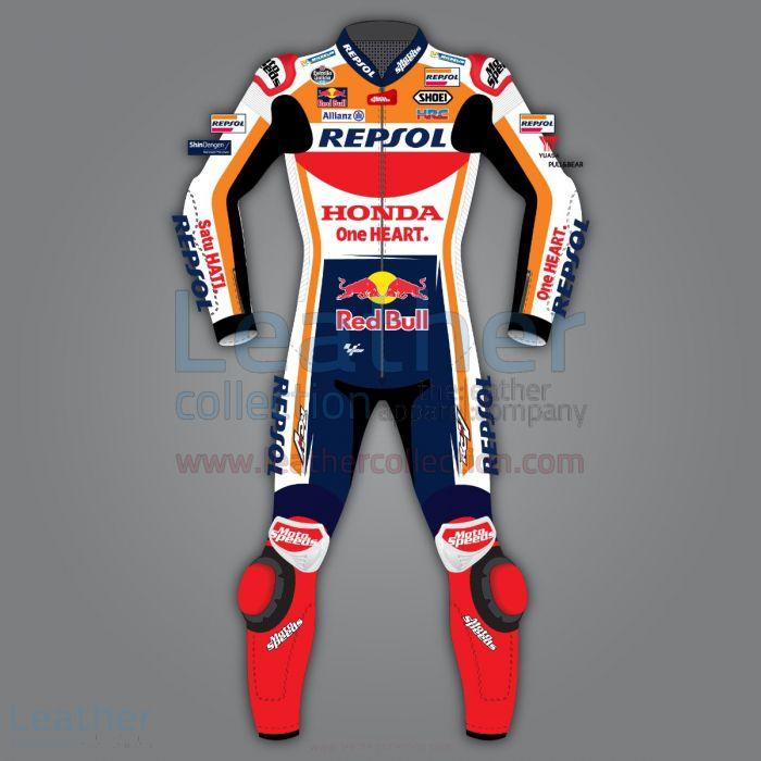 Marc Marquez Honda Repsol Race Suit Motogp 2020 back view front view